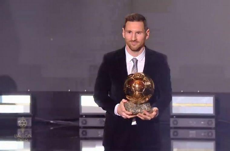 FOTO: Messi, con sus seis balones de Oro.