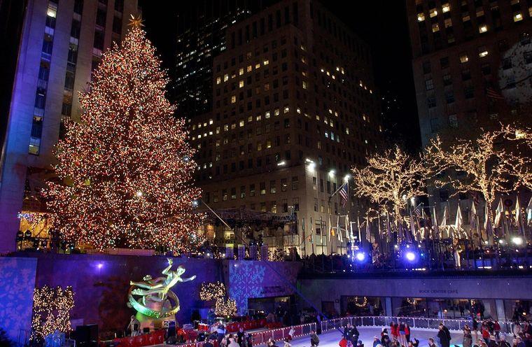 FOTO: Encendido árbol navidad Nueva York