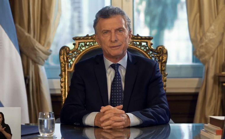 FOTO: Mauricio Macri, en cadena nacional.