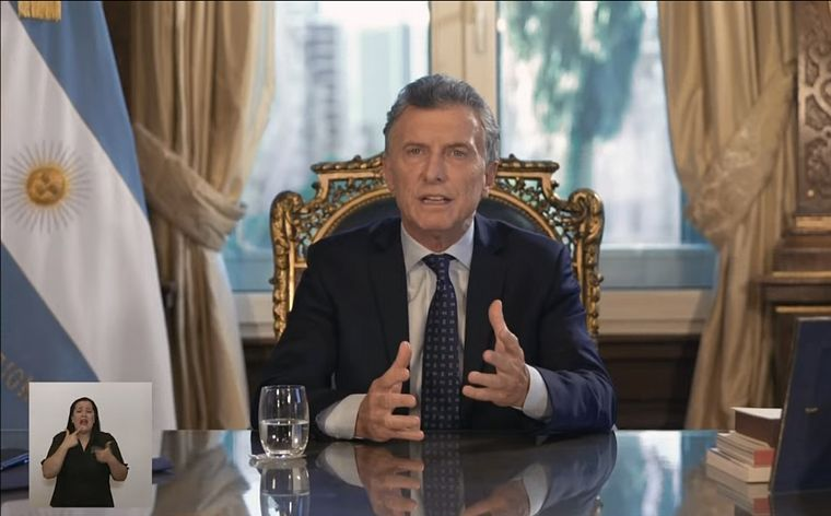 FOTO: Macri habló por primera vez en su gestión por cadena nacional.