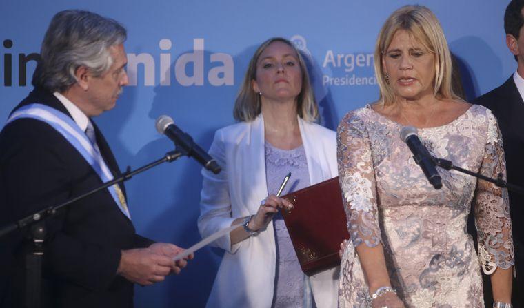 FOTO: Alberto Fernández junto a Santiago Cafiero.