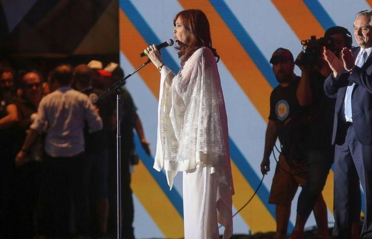FOTO: Cristina brindó un enérgico discurso.