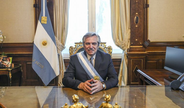 FOTO: Alberto Fernández, presidente de la Nación.