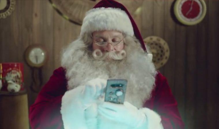 FOTO: La videollamada de Papá Noel