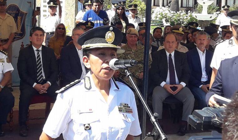 FOTO: Norma Morales es la primera Jefa de Policías del país (Por: Elisa Zamora).