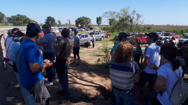 FOTO: Primera protesta del campo en Bell Ville