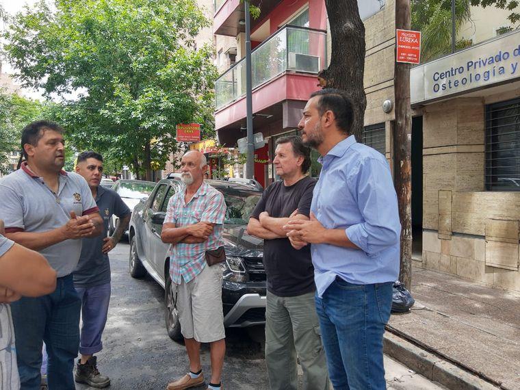 FOTO: El edificio con dificultades se ubica en Buenos Aires y Larrañaga, en Córdoba.