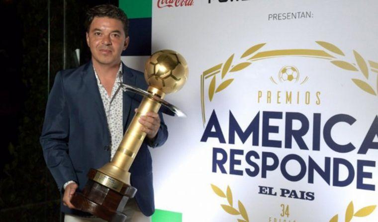 FOTO: Marcelo Gallardo, mejor DT de América de 2019.