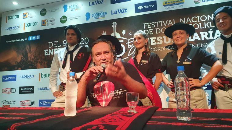 FOTO: Los Umbides en una conferencia previa a su show.