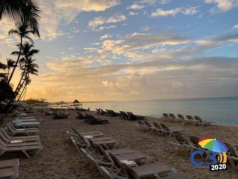 FOTO: Mica Rodríguez en Punta Cana.
