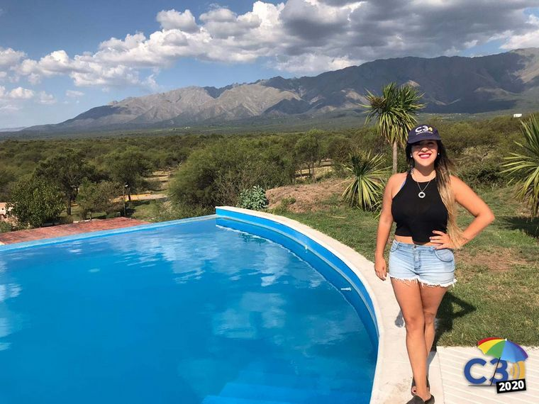 FOTO:  Eugenia Iérmoli llegó al Zahrek Hotel & Resort