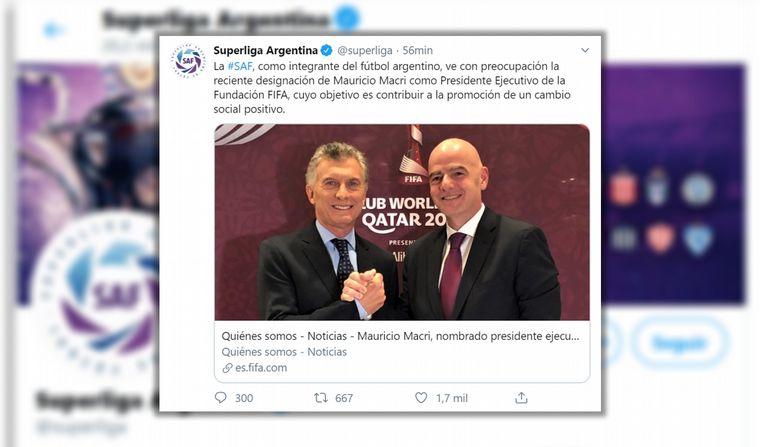 Macri, nuevo presidente de la Fundación FIFA con controversia