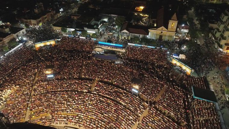 FOTO: Las postales de la séptima luna del Festival de Cosquín con el drone de Cadena 3.