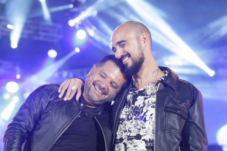 FOTO: Abel Pintos y Jorge Rojas en el Festival de Cosquín.