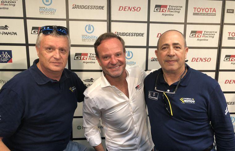 FOTO: Barrichello y sus primeras palabras junto al equipo Toyota Gazoo Racing de Argentina