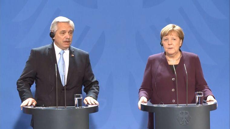 FOTO: Merkel y Alberto Fernández