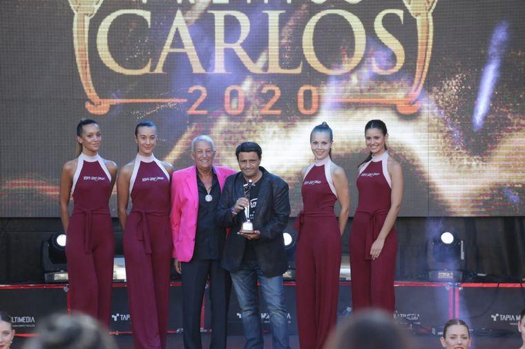 FOTO: Giorgio Montagna en los premios Carlos Paz