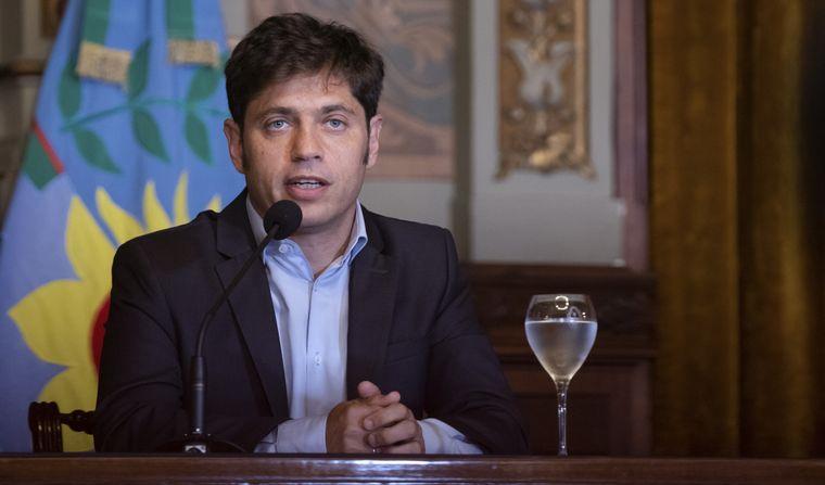 FOTO: Aíslan al gobernador Axel Kicillof por un contacto estrecho.