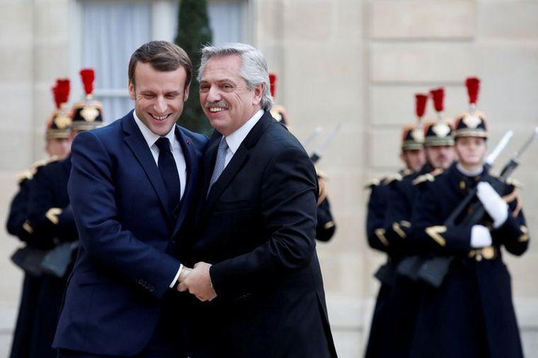 FOTO: Macron recibió a Alberto Fernández.