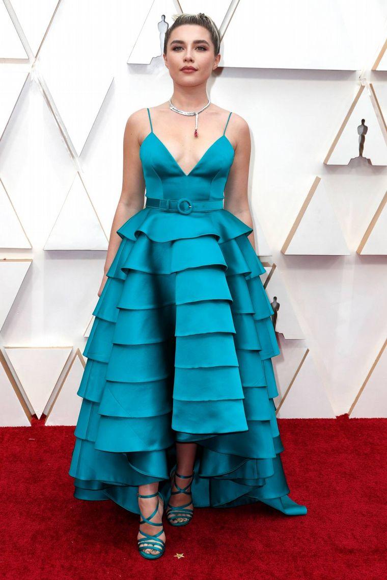 FOTO: Giuliana Rancic en la alfombra roja de los Oscar 2020.