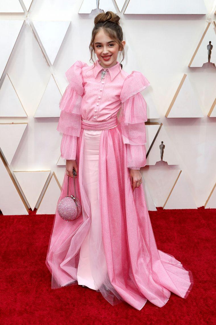 FOTO: Laura Dern en la alfombra roja de los Oscar 2020.