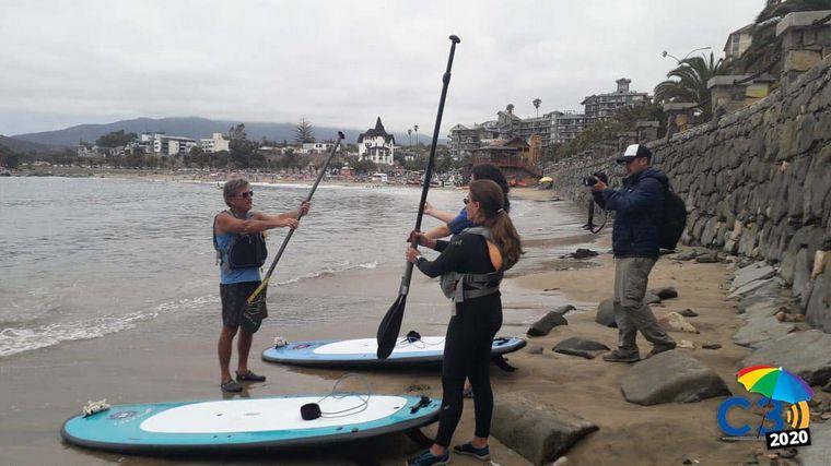 AUDIO: Angie Gatica hizo Stand up paddle en Playa Chica de Papudo