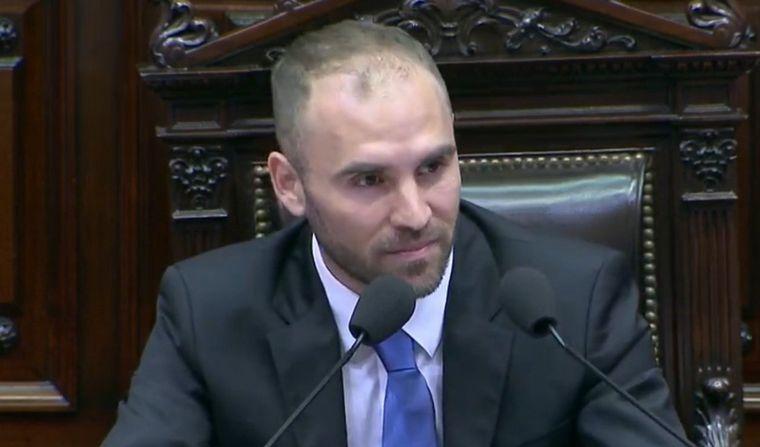 FOTO: El ministro de Economía, Martín Guzmán, durante su exposición en la Cámara baja.