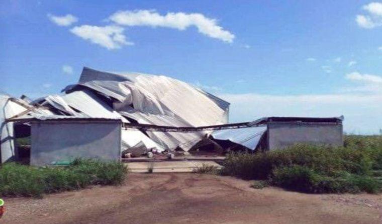 FOTO: Un temporal azotó a Las Varillas