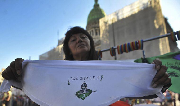 FOTO: La zona del Congreso se llenó de verde por el