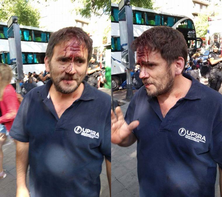 FOTO: Agresiones a gremialistas en Mendoza