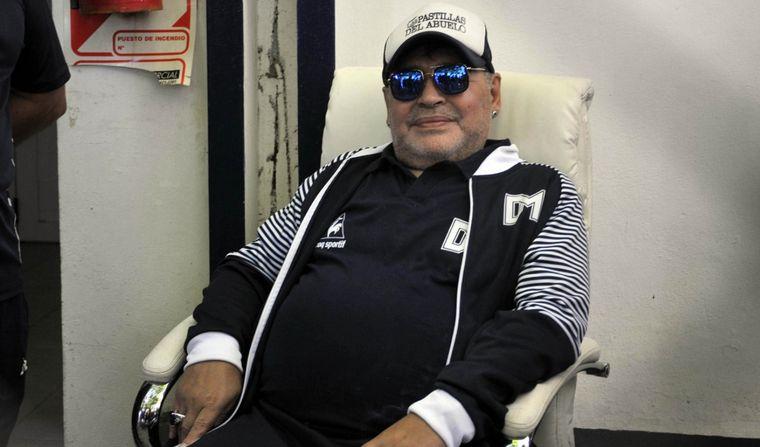 """FOTO: """"El Diego"""" expresó su apoyo al Gobierno nacional."""