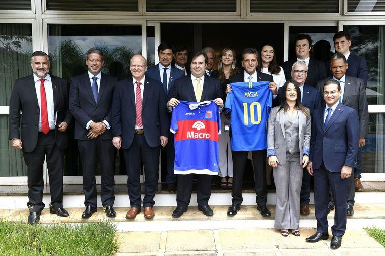 FOTO: Massa encabezó una visita oficial al Palacio del Planalto.