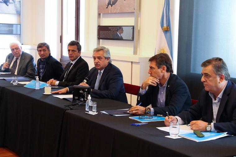FOTO: Sergio Massa encabezó la conferencia de prensa en Casa Rosada.