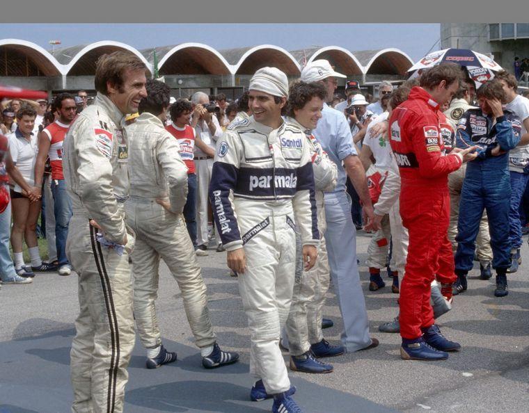 FOTO: Reutemann sobre el Williams en Brasil 1982, su último Grand Prix.