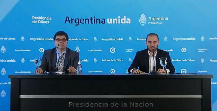 FOTO: Claudio Moroni y Martín Guzmán comunicaron las medidas.