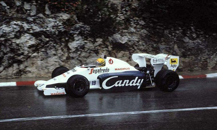 FOTO: Jacarepaguá, Gran Premio de Brasil '84. Senna y el Toleman de Fórmula 1.