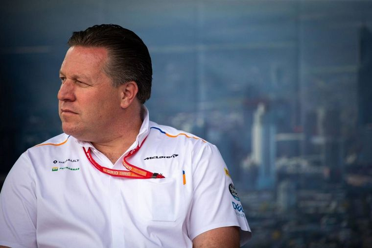 "Zak Brown, ha advertido que la Fórmula 1 se encuentra en ""un estado muy frágil"""
