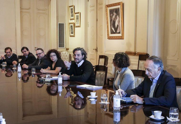 FOTO: La reunión fue en la Casa Rosada.