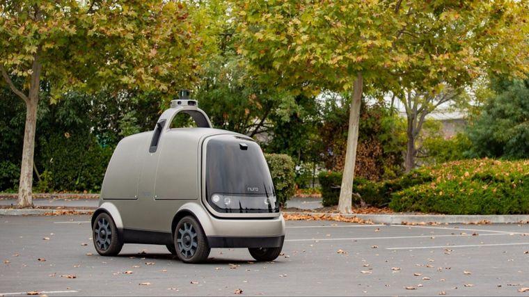FOTO: Nuro es un vehículo urbano totalmente autónomo diseñado para transportar mercaderías