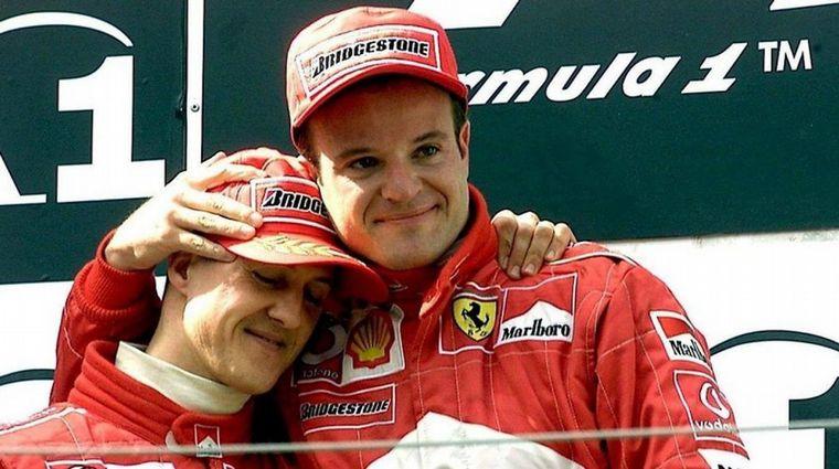 FOTO: Barrichello y Rossi, compañeros en Toyota Argentina y Brasil.