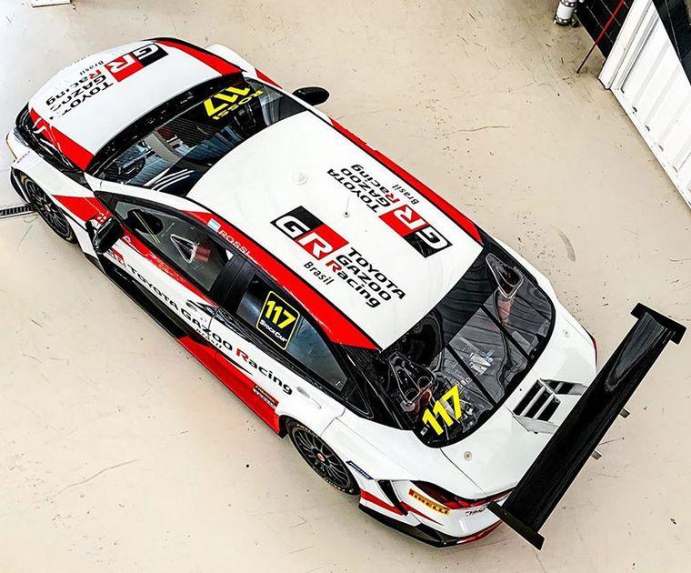 FOTO: Así luce el Corolla Nº117 que correrá Rossi en 2020 en Brasil.