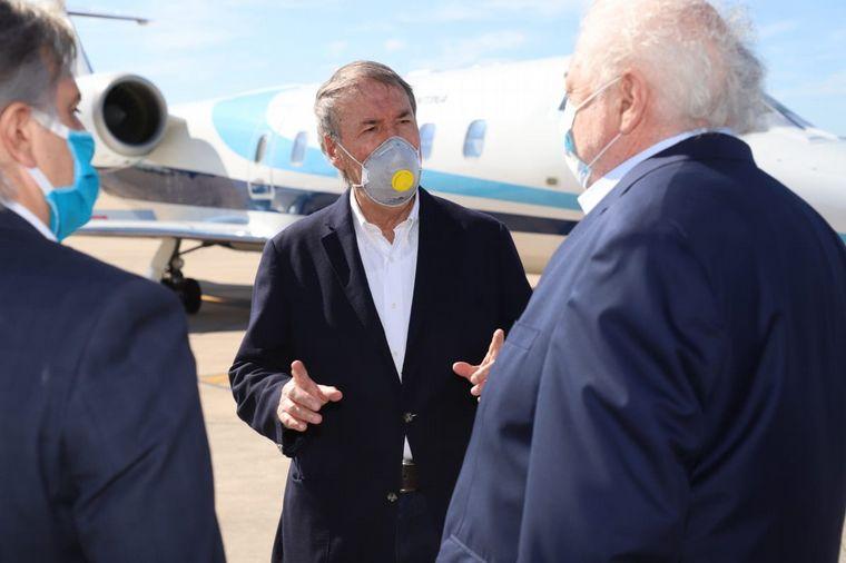 FOTO: El gobernador Juan Schiaretti recibió al ministro de Salud Ginés González García