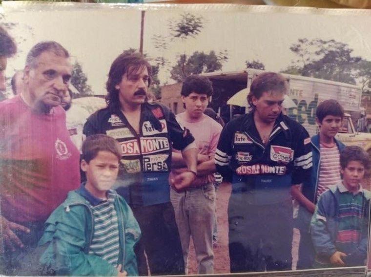FOTO: Un equipo que lo llenó de orgullo, con sus dos hijos en el rally argentino