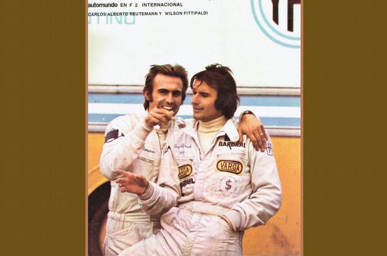 FOTO: Fittipaldi con el Lotus, siempre fue un buen amigo para Reutemann