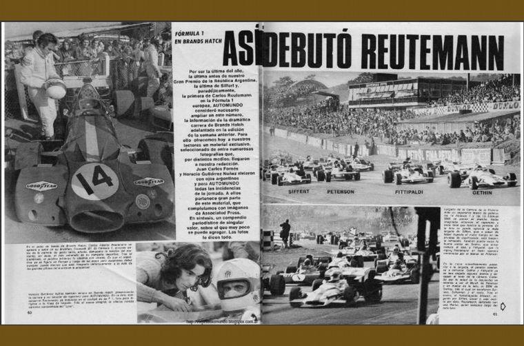 """FOTO: Con este viejo BT33 """"aggiornado"""", debutó en Brabham el día que se mató Jo Siffert"""