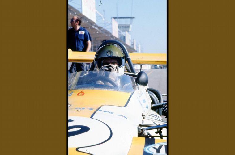 FOTO: Reutemann en acción en el Cabalén cordobés con el Brabham BT36, 1971