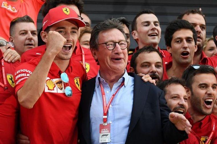 FOTO: Binotto, Camilleri, Leclerc. Ferrari siente el golpe de la merma de ingresos de F1