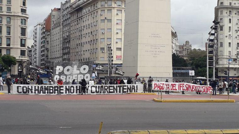 AUDIO: Protesta de organizaciones sociales en plena cuarentena