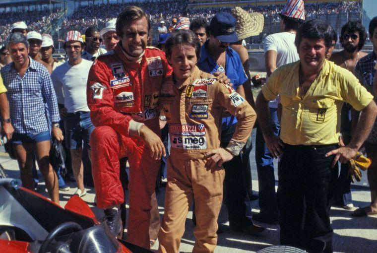FOTO: En el '77 en Japón vuela con la Ferrari tras tocar al Tyrrell P34 de Peterson