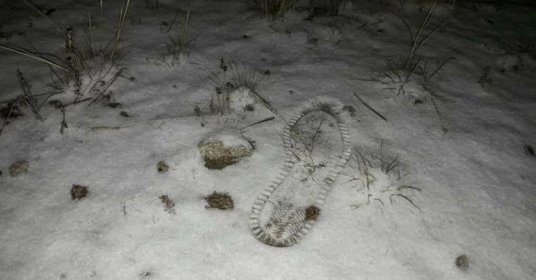 FOTO: Leve nevada en la zona de la escuela Ceferino Namuncurá.